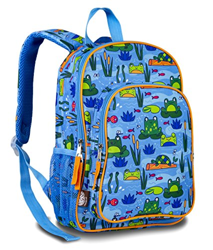 LONECONE Kids' Preschool Backpack for Boys and Girls, Frog Pond
