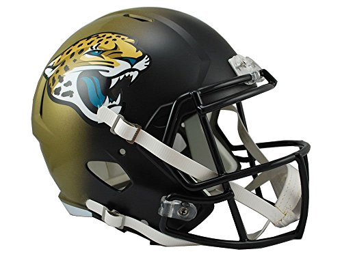 Riddell NFL Jacksonville Jaguars Full Size Replica Speed Helmet, Medium, White (Jacksonville Football Helmet Jaguars)