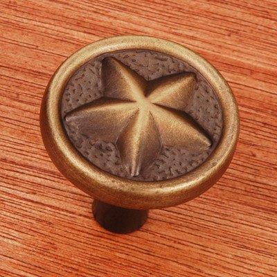 R.K. International CK 209 AE Rki - Antique English Rugged Texas Star Knob