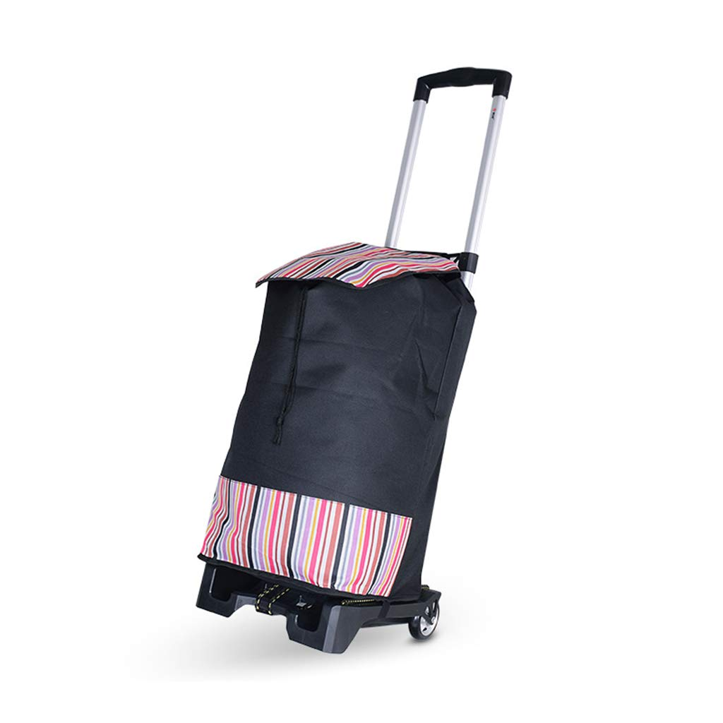 Portabke折りたたみ式フラットベッドハンドトラックヘビーデューティ、コンパクトで軽量なアルミハンドトロリー (色 : Cart+bag) B07QK751MB Cart+bag