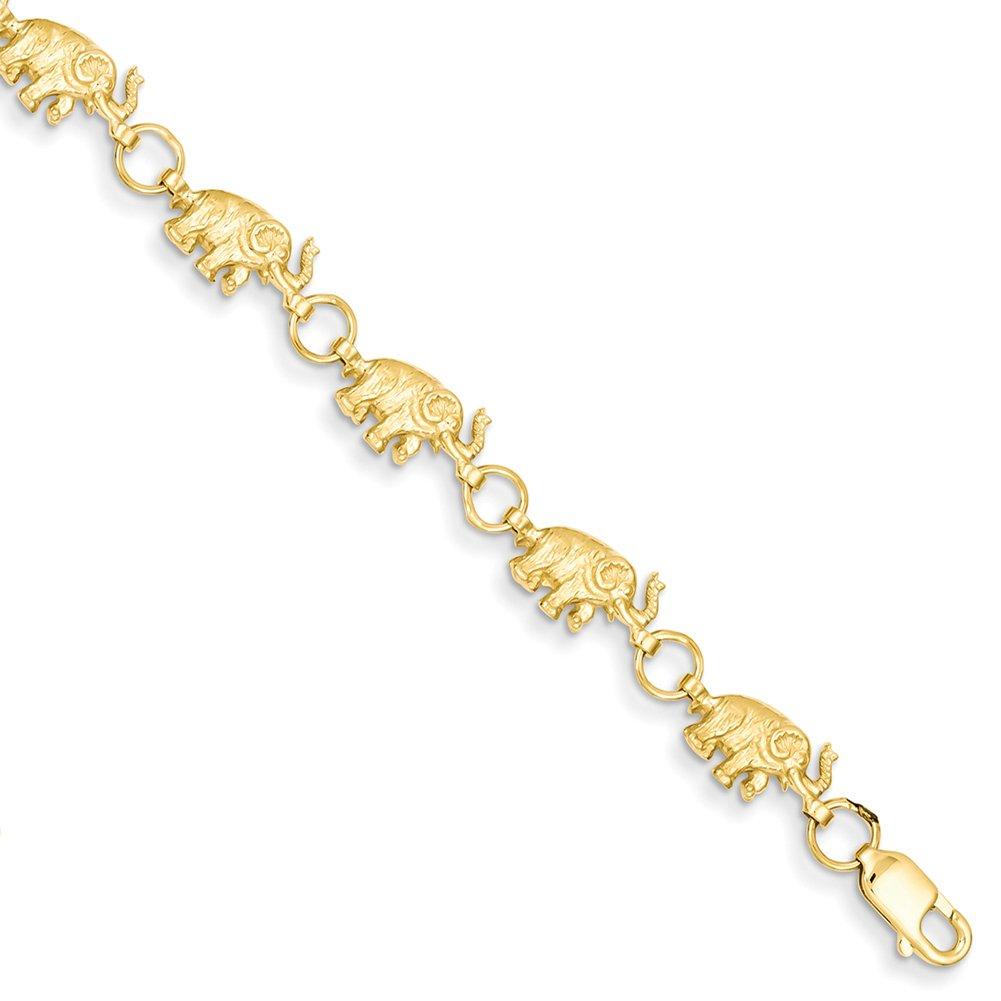 14k Yellow Gold Elephant Bracelet FB397