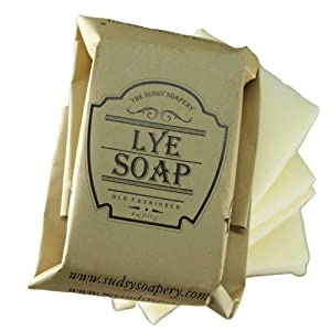Old Fashioned Lye Pure and Natural Soap for Laundry Stains, for Mosquitos and more, Additive Free with Tallow