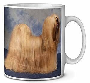 Perro de Lhasa Apso Cumpleaños taza de café regalo navidad
