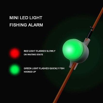 Outdoor Night Fishing Luminous Alarm LED Light Rod Tip Fish Indicator