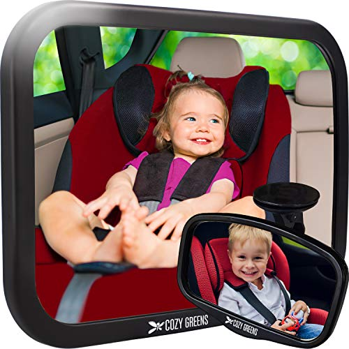 Baby Car Mirror XL w/Upgraded Ball Joint| Most Stable | 100% Lifetime Satisfaction Guarantee | Shatterproof & Crash Tested | Best Newborn Safety | Backseat Mirror for Car Back Seat ()