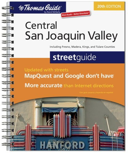 The Thomas Guide Central San Joaquin Valley Streetguide: Including Fresno, Madera, Kings, and Tulare Counties by Rand McNally - Tulare Shopping