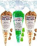 Cashews (2) Honey Salted Roasted Delicately (1) Green Apple Gummi Gummy Bears (NET WT 20 OZ) Gourmet Kruise Signature Gift Bags