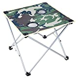 GFL Outdoor Folding Table And Stool Portable Casual Beach Fishing Camping Table And Stool Computer Tables (Size : A)