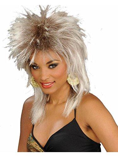 Tina Turner Halloween Costume (Forum Novelties Women's 80's To The Maxx Rocking Queen Costume Wig, White Blond, One)