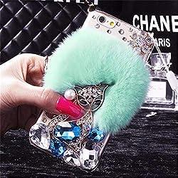 Torquoise Fur Diamond Crystal Rhinestone Case for Oppo Mobile