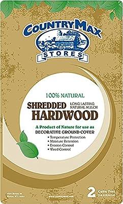 CountryMax Natural Shredded Hardwood Mulch, 2 Cu. Ft.