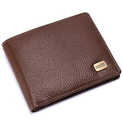 HAMMONDS FLYCATCHER Men's RFID Protected Premium Leather Brushwood Wallet (Brown)