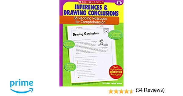 Amazon 35 Reading Passages for Comprehension Inferences – Drawing Conclusions Worksheets 3rd Grade