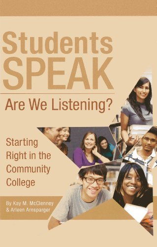 Download By Kay M. McClenney Students Speak: Are We Listening? (Pap/Dvdr) [Paperback] pdf epub