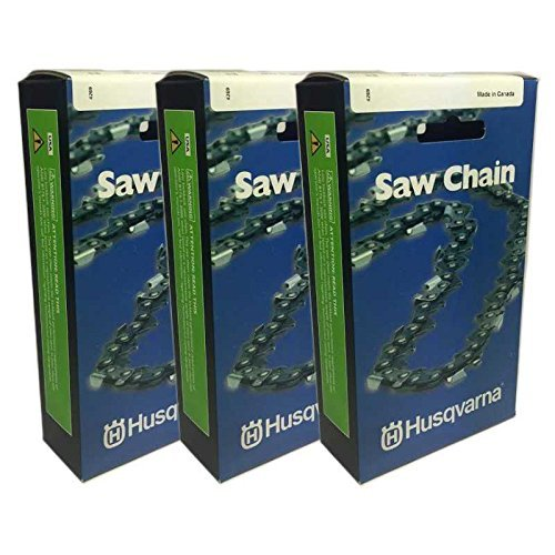 "Husqvarna 591132372 Pack of 3 Chainsaw 20"" Chain Low Kick H80-72 3/8 .050"