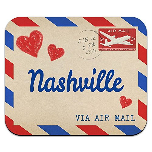 Graphics and More Air Mail Postcard Love for Nashville Mouse Pad Mousepad ()