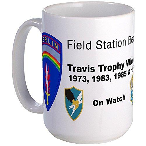 CafePress - Field Station Berlin Large Travis Trophy Mug - Coffee Mug, Large 15 oz. White Coffee - Berlin Travis