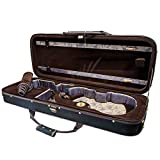 Paititi 16 inch Professional Oblong Shape Lighweight Viola Hard Case with Hygrometer Black/Brown