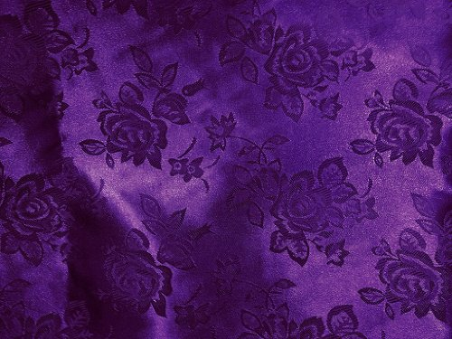 Brocade Jacquard Satin Purple 60 Inch Fabric By the Yard from The Fabric Exchange