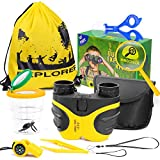 Innocheer Kids Explorer kit, Outdoor Adventure Toys for Boys and Girls - 8x Magnification Binoculars with Bug Catcher Kit, Great Educational Nature Toys for Camping, Hiking, Outside and Backyard