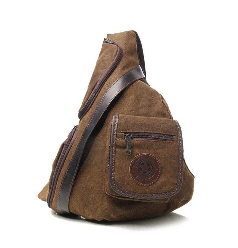 WYBXA Neue Herrenbrusttasche Lässige Retro-Modetrend Leinwand Diagonale Schulter Herrentasche Multifunktionale Outdoor-Sport-Reittasche Studententasche B07L2FC67T Schultertaschen