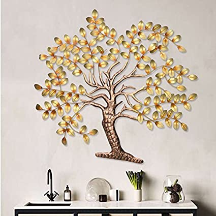 collectible india creative beautiful tree design decorative metal wall hanging 75 cm x 57 cm