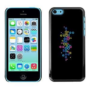 PC/Aluminum Funda Carcasa protectora para Apple Iphone 5C Minimalist Pastel Subtle Dots / JUSTGO PHONE PROTECTOR