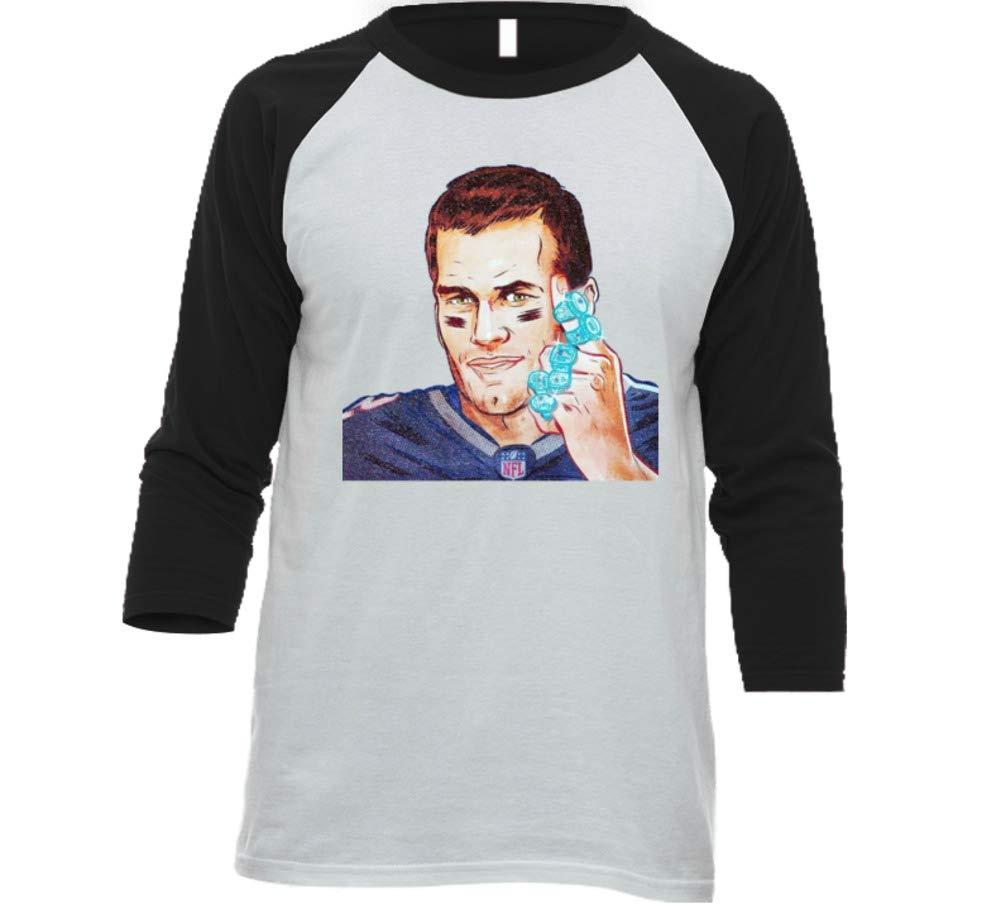 Tom Brady 6 Rings Football Champ 3442 Shirts