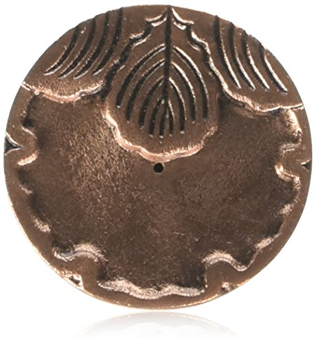 Maroma Copper and Pewter Incense Holder, Round Copper,