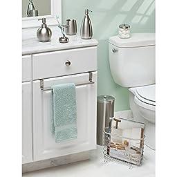 InterDesign Nogu Bath, Toothbrush Holder Stand for Bathroom Vanity Countertops - Brushed Stainless Steel