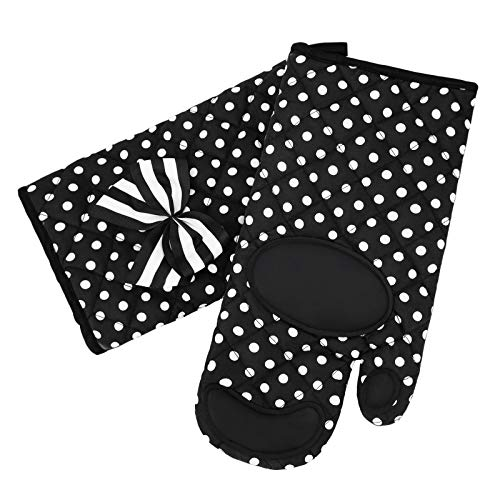Nacuwa Oven Mitts Gloves - Extra Long Heat Resistant up to 482°F Oven Gloves - for Cooking, Baking, Barbecue Potholder - 1 Pair