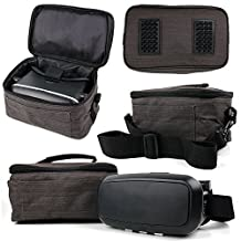 Canvas Carry Case / Store Bag with Shoulder Strap for the Sony SRS-X3 NFC und Bluetooth Speaker - by DURAGADGET