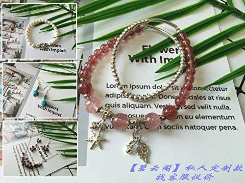 (Handmade custom 925 sterling silver bracelet necklace earring earrings jewelry tidal wave of men women Silver accessories)
