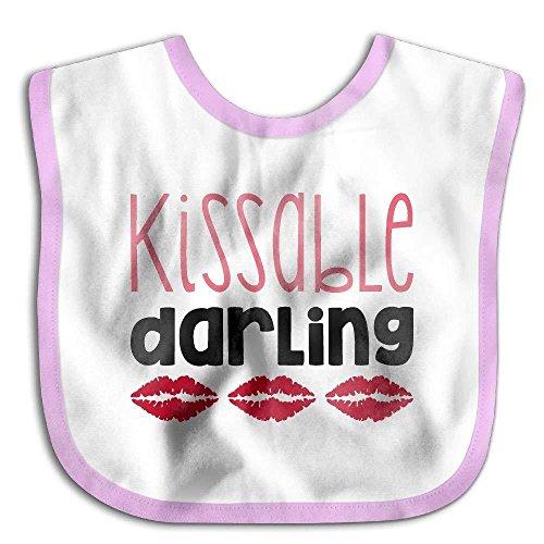 Darling Handkerchief - Kissable Darling Funny Cotton Saliva Towel Infant Bibs Kids Girl Boy Baby Lunch Bib