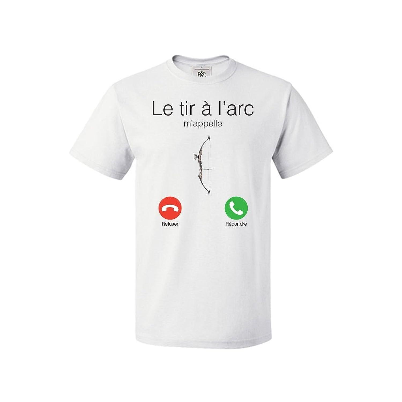 d0396eda10cda Blue NAJA Tee Shirt J'peux Pas J'Ai Tir à l'arc de Marque Française ...