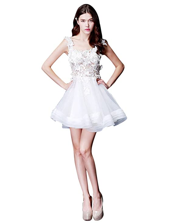 1ab2e2b5e vimans Girls Short Sexy Lace Organza Prom Party Evening Dresses ...