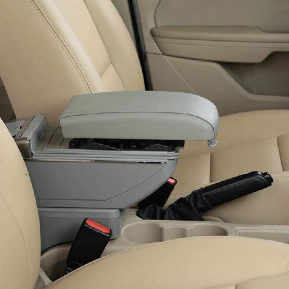 apoyabrazos Hatchback apoyabrazos Consola Central Caja de Almacenamiento con Carga USB WANGLEISCC para Honda Fit Jazz 2002-2007