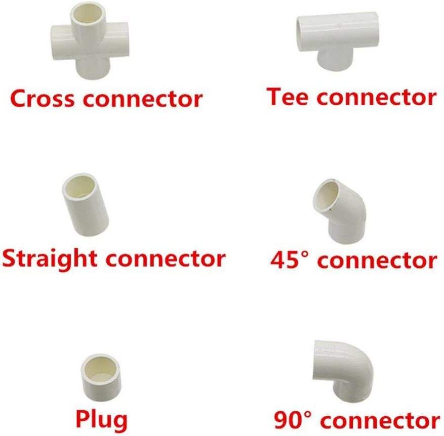 Juijnkt Water Supply Pipe Fitting Tee Cross Straight Elbow Equal Connector Inner 20Mm Plastic Joint Irrigation Adapter 1 Pc Grey Cross Connector