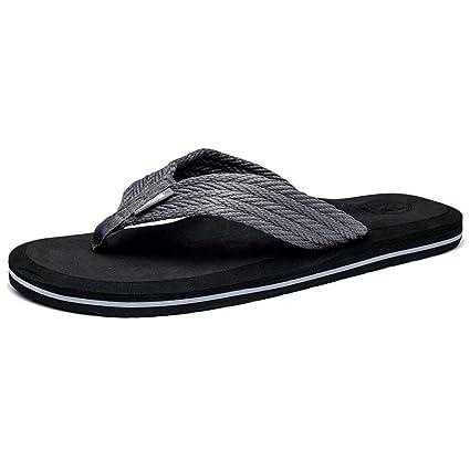 82ec330345dd87 ZHRUI Men Flip Flops Comfortable Beach Sandals Shoes for Men Male Slippers  Fashion Casual Summer Shoes (Color : Silver, Size : 12 UK/48 EU):  Amazon.co.uk: ...