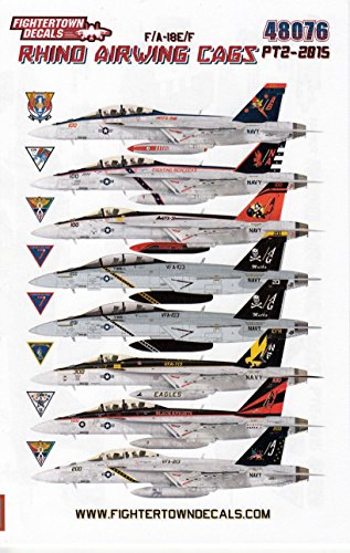 FTD48076 1:48 Fightertown Decals F-18E F-18F Super Hornet 'Rhino Airwing CAGS Pt (18f Super Hornet Model)