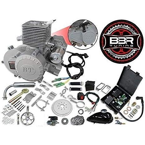66 C 80 cc 2 tiempos eléctrico Start arranque/embrague centrífugo para bicicleta Motor Kit, caballo volador Bullet Train: Amazon.es: Coche y moto