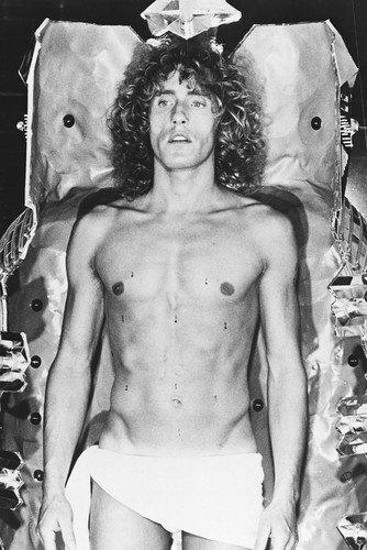 Roger Daltrey Barechested B&W 11x17 Mini Poster