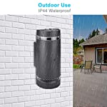 LASIDE Dusk to Dawn Outdoor Wall Lights, Max 35W GU10 Aluminium Up Down Outside Wall Lights, IP44 Waterproof Anthracite…
