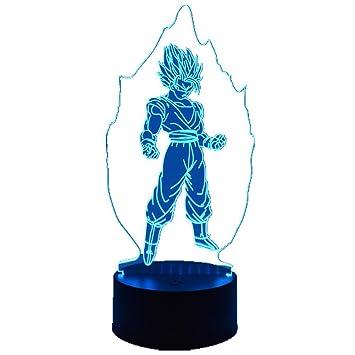 Lumière Led Dragon Ball Vision Goku Décoration Stéréo Fils Nuit Z 3d 29YDHIEW