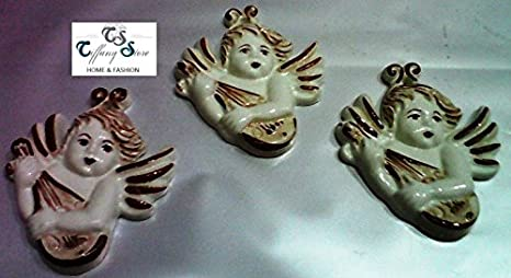 Angioletto applique mignon in ceramica di caltagirone amazon