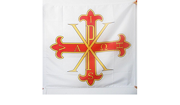 AZ FLAG Bandera de la Sagrada Orden Militar CONSTANTINIANA DE San Jorge 90x90cm para Palo - Bandera Ejercito DE Francia 90 x 90 cm: Amazon.es: Jardín