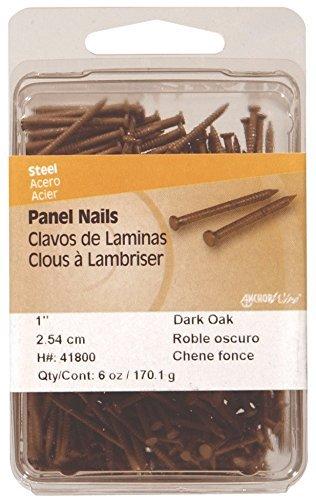 Panel Dark Oak (Hillman Panel Nails 1-5/8 Dark Oak Card 6 Oz by Hillman Fasteners)
