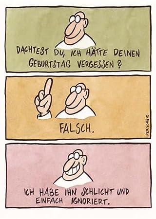 Postkarte A6 Cartoon Von Modern Times Geburtstag Vergessen