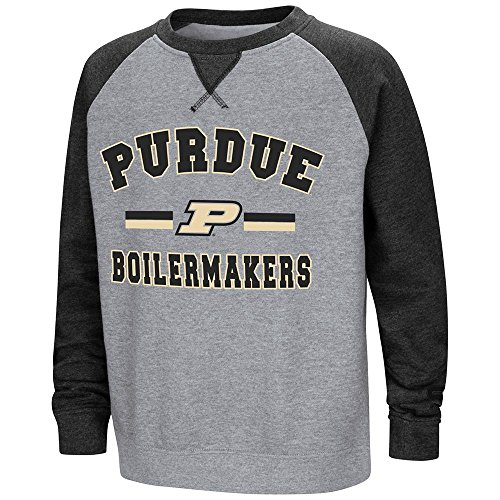 (Colosseum Youth Purdue Boilermakers Fleece Crewneck Sweatshirt - M)