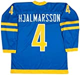 Team Sweden Niklas Hjalmarsson Blue Hockey Jersey (48 Large)